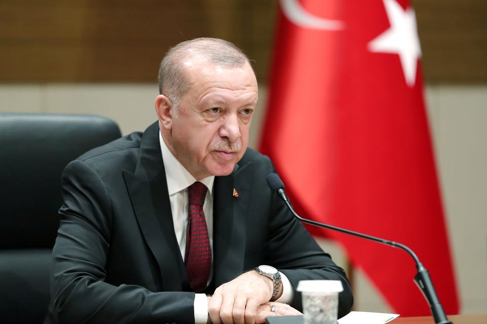 Den tyrkiske præsident skruer op for retorikken over for Syrien og truer med hård gengældelse. (Foto: Presidential Press Office/Reuters/Ritzau Scanpix)