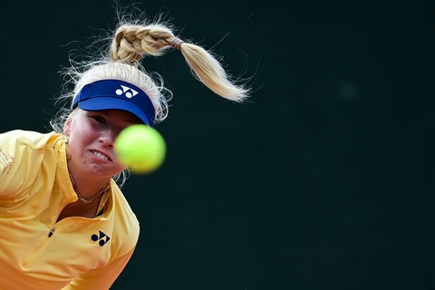 Clara Tauson er klar til finalen i WTA-turneringen i franske Lyon. (Arkivfoto)