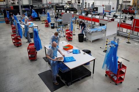 Nissans fabrik i Sunderland i det nordøstlige England er Storbritanniens største bilproducent. Den ventes at genåbne i løbet af juni. (Arkivfoto).