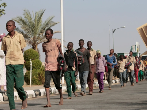 Nigerianske sikkerhedsstyrker befriede i december over 300 bortførte skoledrenge i det nordlige by Katsina. (Arkivfoto)