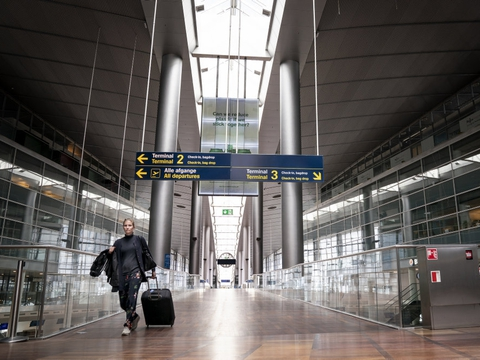 Københavns Lufthavn har i første kvartal oplevet en stor nedgang i antallet af passagerer. (Arkivfoto)