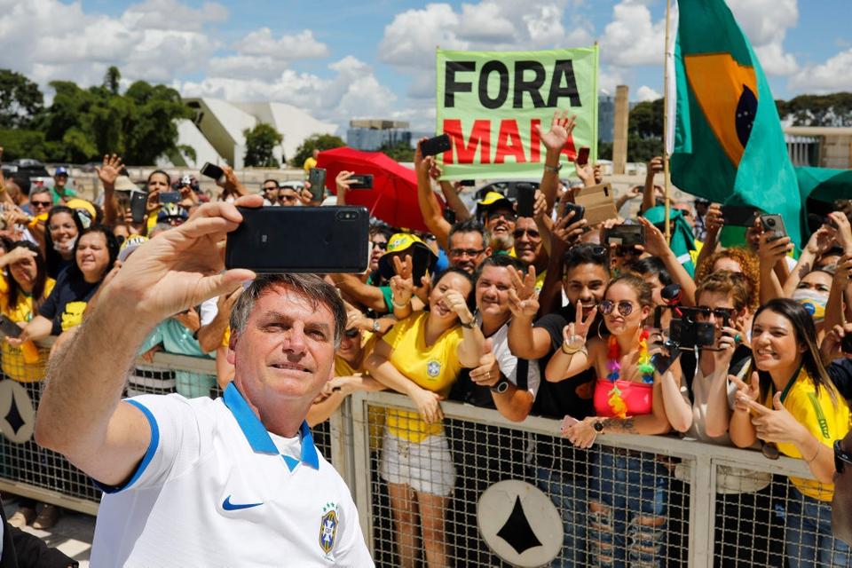 Brasiliens præsident har fået både støtter og modstandere til at demonstrere med sin politik under coronakrisen. (Arkivfoto.)
