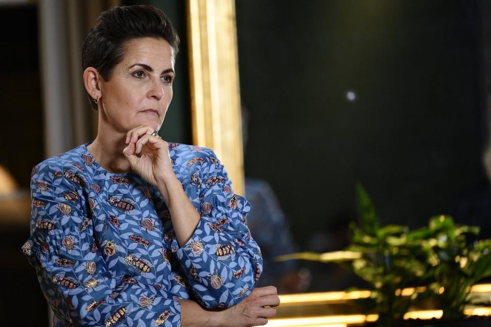 SF-formand Pia Olsen Dyhr er bekymret for den britiske coronavariant, der er kommet til Danmark, og som smitter mere. (Arkivfoto)