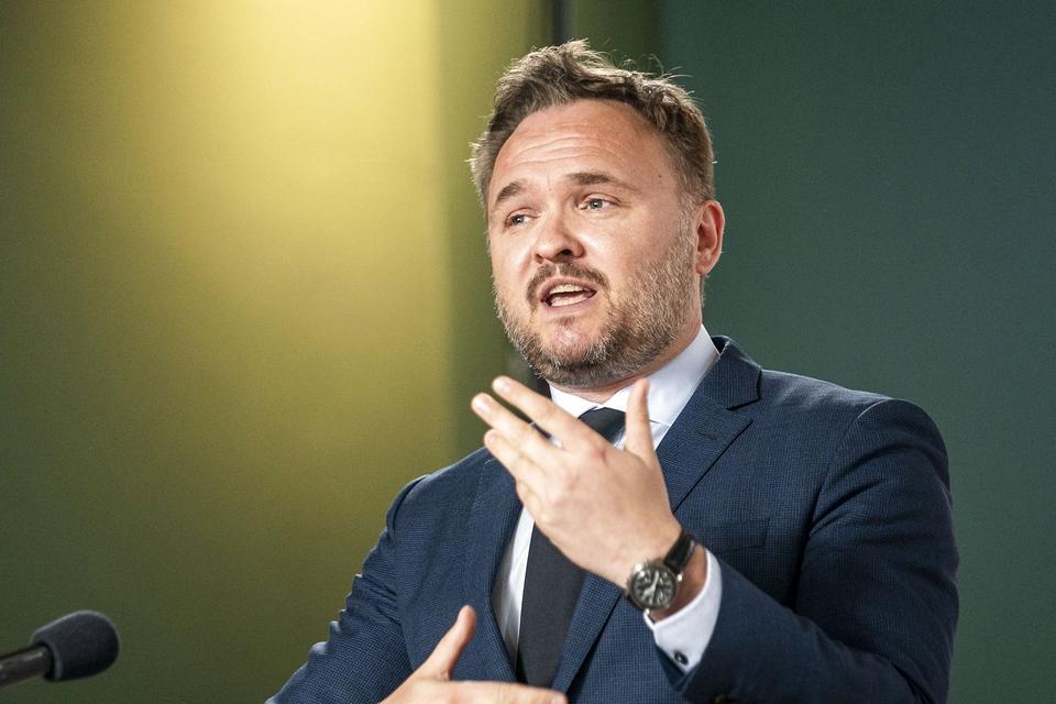 Klima-, energi- og forsyningsminister Dan Jørgensen (S) til pressemøde om første del af regeringens klimahandlingsplan i Finansministeriet, onsdag den 20. maj 2020. (Foto: Niels Christian Vilmann/Ritzau Scanpix)