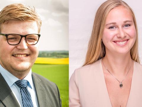 De to nytiltrådte chefredaktører på 180Grader, August Steengaard og Ida Egede.