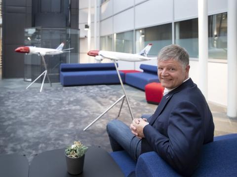 Jacob Schram, administerende direktør hos Norwegian, kan glæde sig over stor interesse for selskabets aktier. (Arkivfoto)