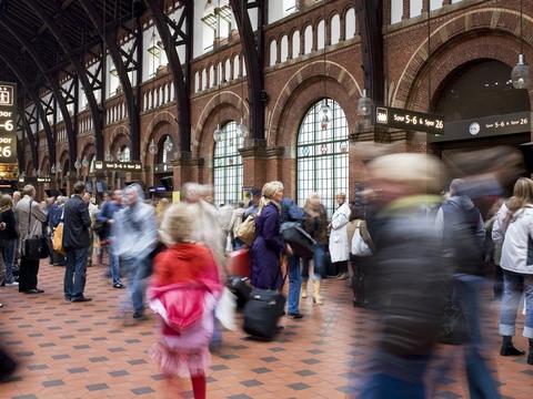 Trafikhallen, Københavns Hovedbanegård. (Foto: René Strandbygaard/DSB)