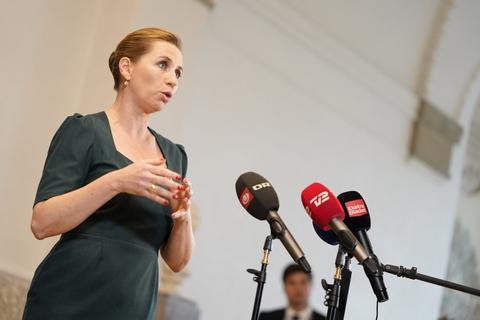 Statsministeren taler til pressen på Christiansborg, tirsdag den 20. oktober 2020.