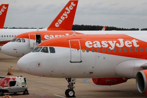 Easyjets første afgang efter coronanedlukning bliver fra London til Glasgow mandag morgen. (Arkivfoto).