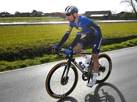 Michael Mørkøv skal også i 2022 og 2023 iklæde sig Quick-Steps blå farver. (Arkivfoto)