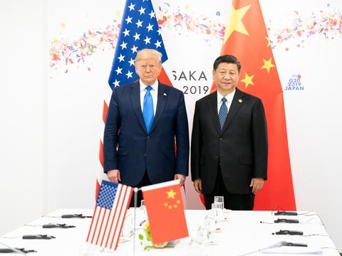 Den amerikanske præsident Donald Trump og den kinesiske leder Xi Jinping mødes ved G20-topmødet i Osaka, Japan i 2019. (Foto: Det Hvide Hus)