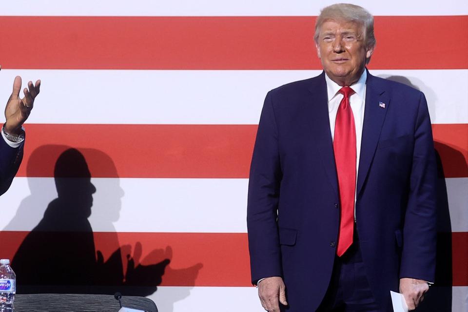 USA' præsident, Donald Trump, deltog torsdag lokal tid i en rundbordssamtale ved en kampagnelignende begivenhed i en kirke i Dallas.