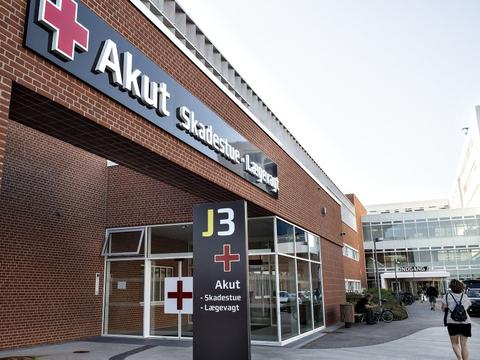 Aarhus Universitetshospital lukker nu flere indgange for at holde coronasmitten for døren. En af dem, der forbliver åben, er J3. (Arkivfoto).