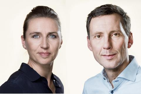 Folketingets pressefotos af Mette Frederiksen og Nick Hækkerup