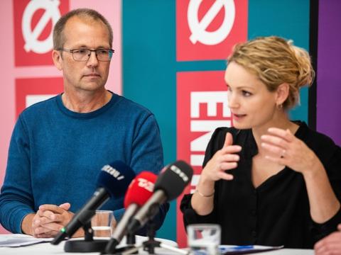 Peder Hvelplund skal fremover danne frontduo med Pernille Skipper i Enhedslisten. (Arkivfoto)