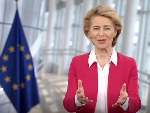 Formand for EU-kommissionen, Ursula von der Leyen. (Foto: AFP/Ritzau Scanpix)