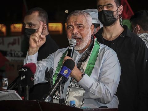 Ifølge Hamas' politiske leder, Ismail Haniyeh, vil den palæstinensiske modstandsbevægelse overholde aftalen om våbenhvile, hvis Israel gør det samme. (Arkivfoto)