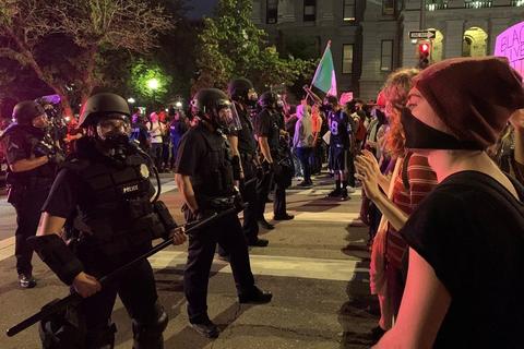 Sagen om George Floyd har ført til sammenstød mellem demonstranter og politi i delstaten Minnesota. (Arkivfoto)